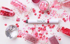 помады-блески для губ TenX искрящийся розовый