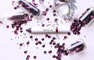 помады-блески для губ TenX сливовый