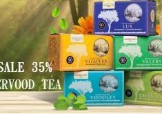 Скидка 35% на всю коллекцию фиточаев Enerwood Tea