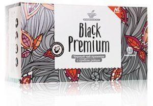 чай black premium с грибом рейши