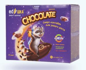 полезный молочный коктейль для детей едешка шоколад