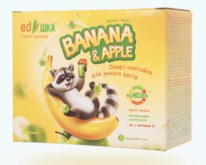 полезный молочный коктейль для детей едешка яблоко банан